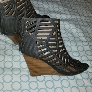 Caged Wedge Shoes